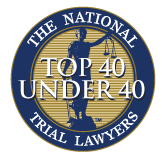 The National Trial Lawyers badge for Top 40 Under 40